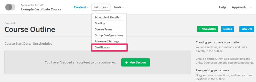 Setting up HTML certificates as Open edX course staff - Appsembler ...