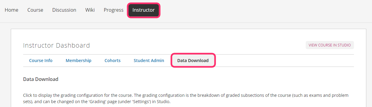 Viewing student profile information and reports in Open edX