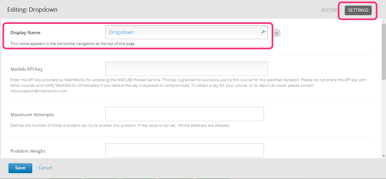 Creating dropdown problems in Open edX - Appsembler Knowledge Base