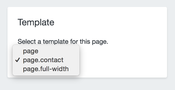 pages menu template