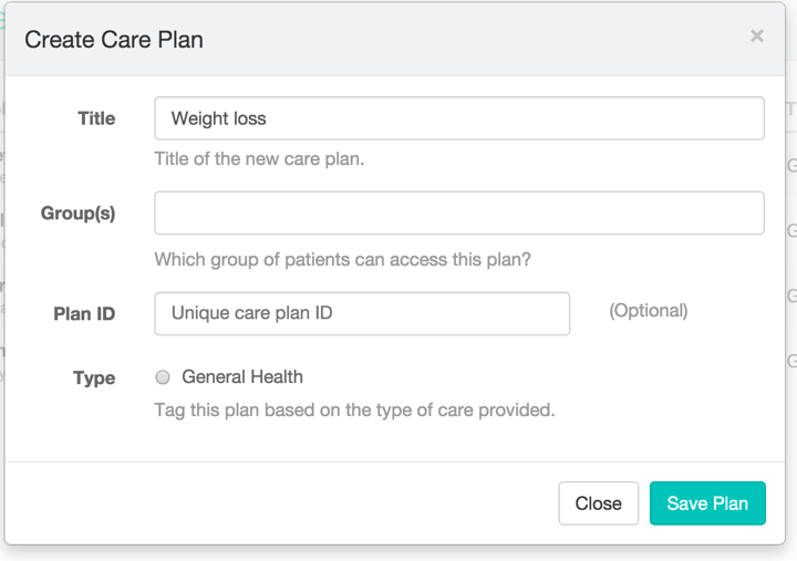 Creating Care Plan Templates - Patient IO Care Team Support