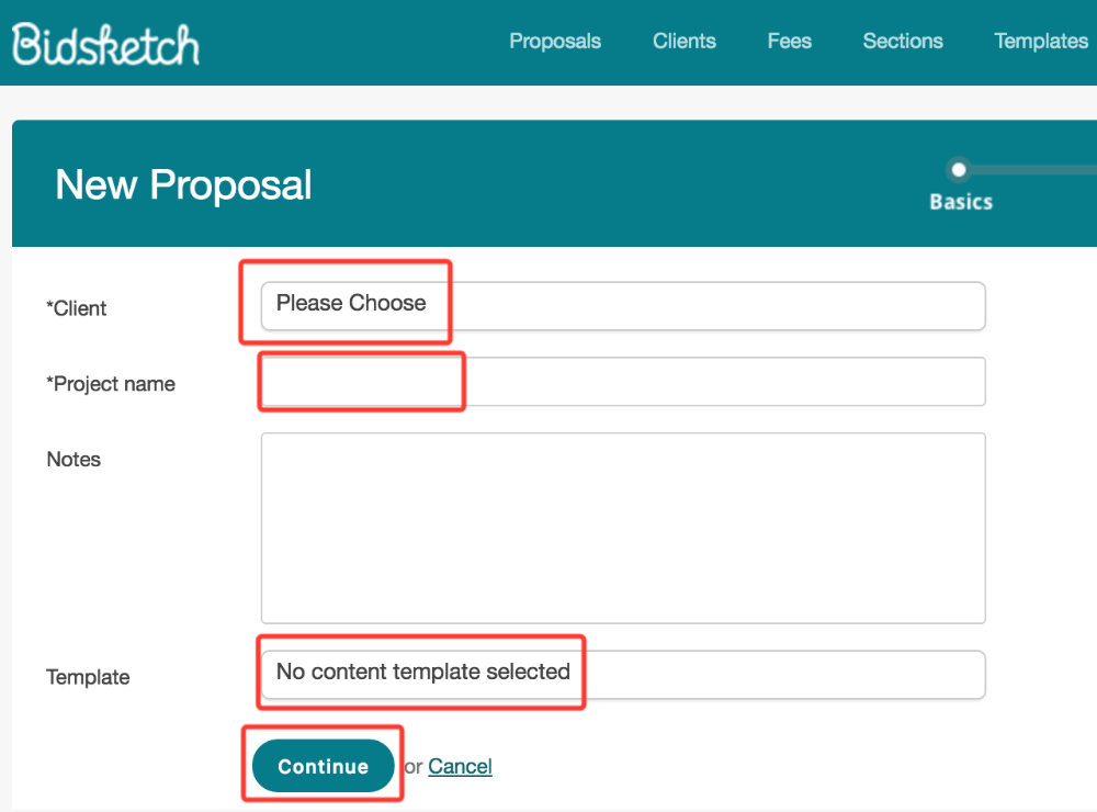 How To Create A Proposal In Bidsketch Bidsketch Knowledge Base