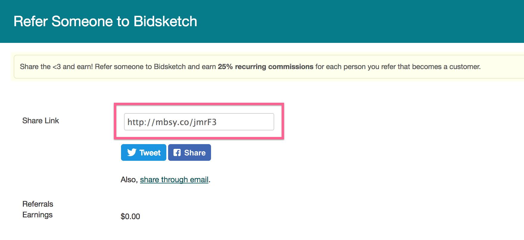 Refer Someone To Bidsketch Bidsketch Knowledge Base