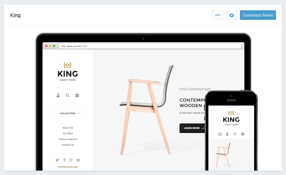 Starting with the customizer - Krown Themes / Shopify Themes Support