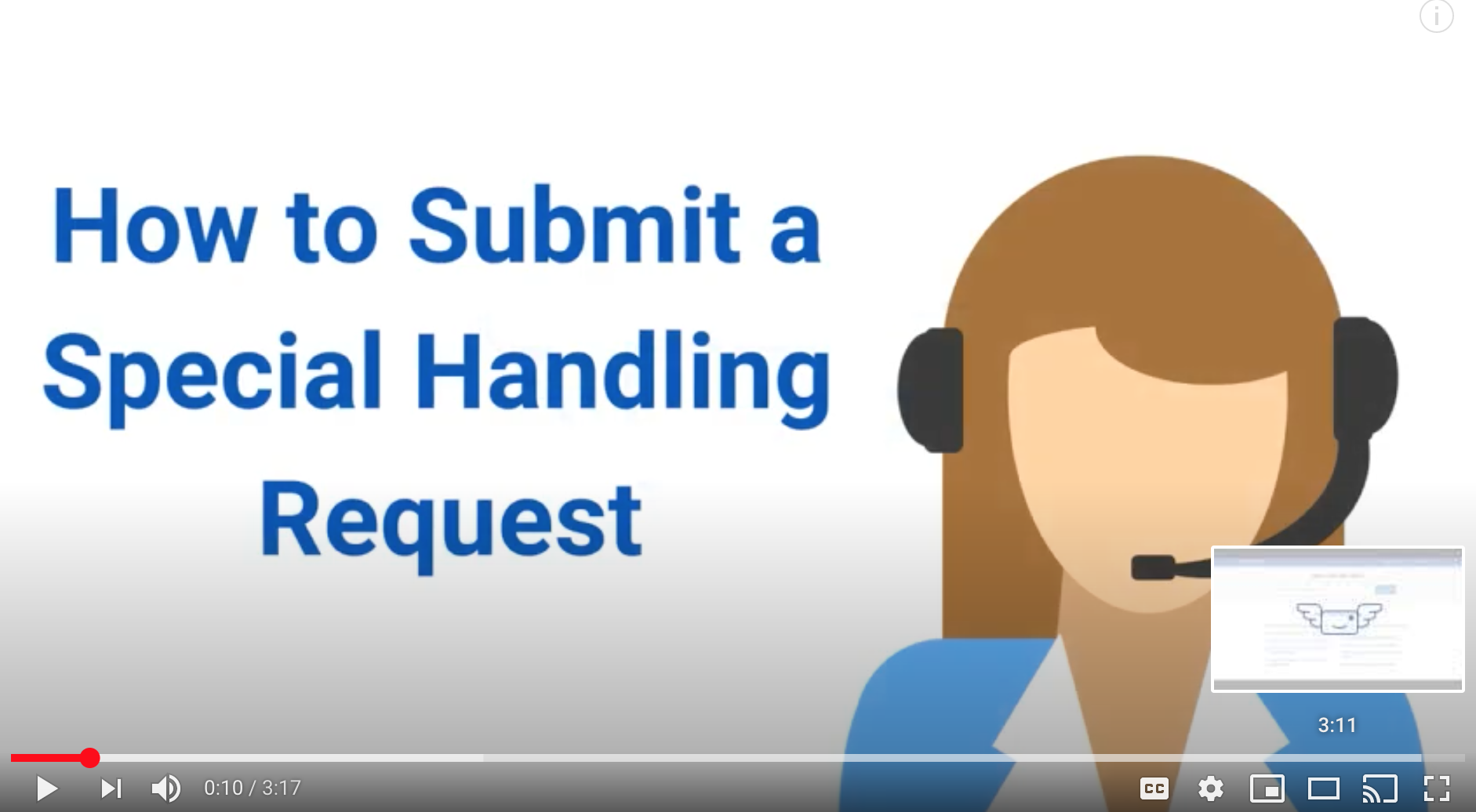 VirtualPostMail Special Handling Request