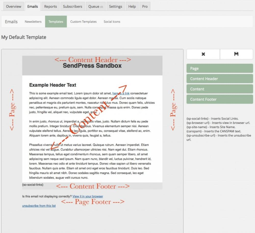 Creating Your First Newsletter Template SendPress - How to create a newsletter template