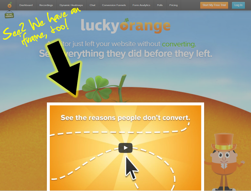 Can Lucky Orange track and playback iframe content within recordings