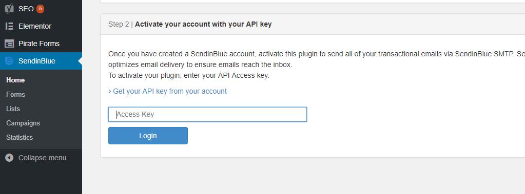How to integrate SendinBlue WordPress plugin to your website