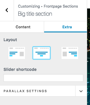 How to replace Big Title section with an image slider in