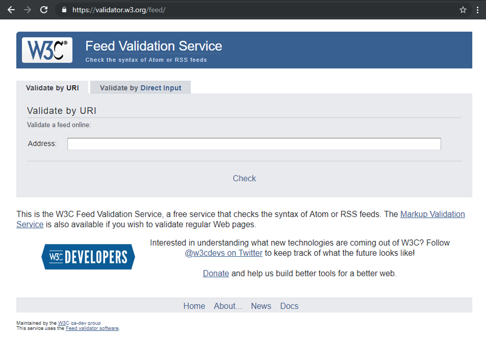 How to check whether the RSS feed is valid or not in Feedzy