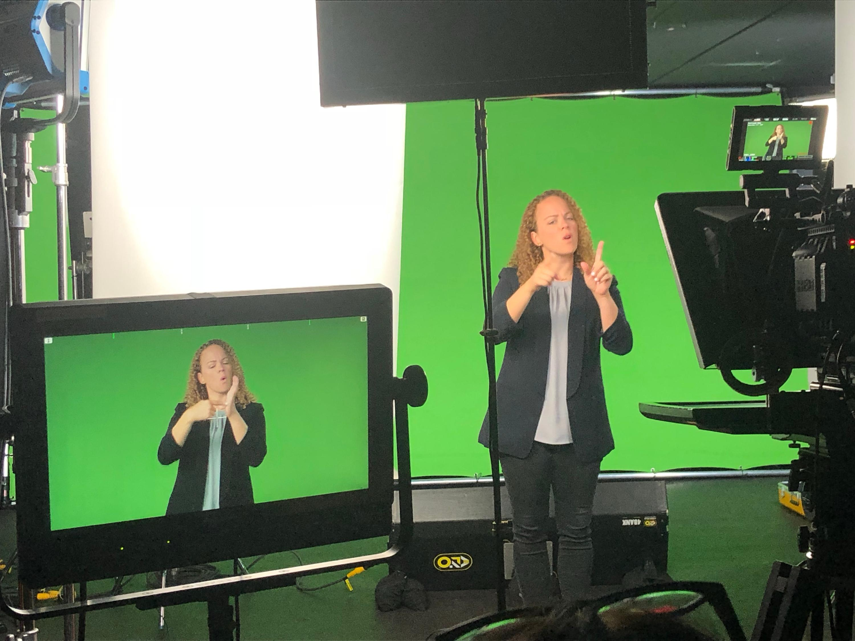 American Sign Language in the Studio