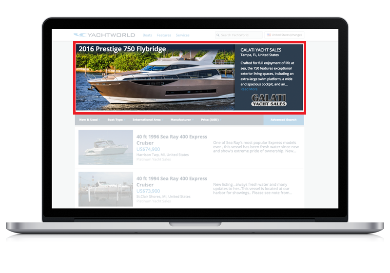 What is the Premium Placement Ad on YachtWorld and what can