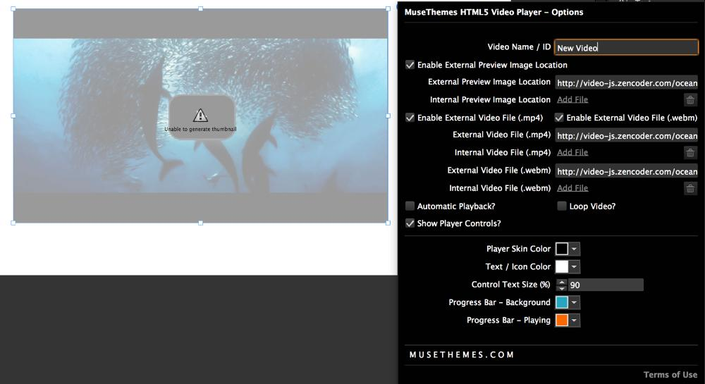 How to Configure the Self Hosted Video Player (HTML5) - MuseThemes