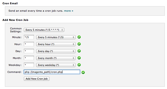 Setting up CRON Jobs in Magento - MageRewards Knowledgebase