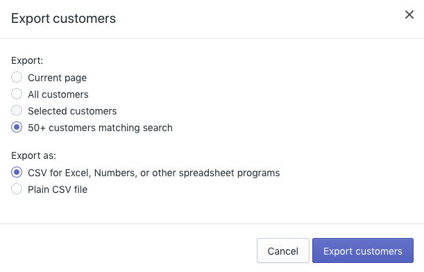 Check the number of registered customer accounts in Shopify