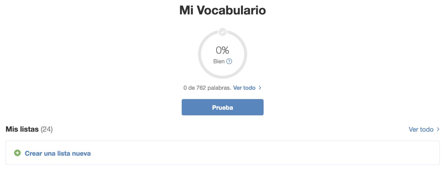 39a3b9c74 Cómo crear una lista de vocabulario - SpanishDict Apoyo