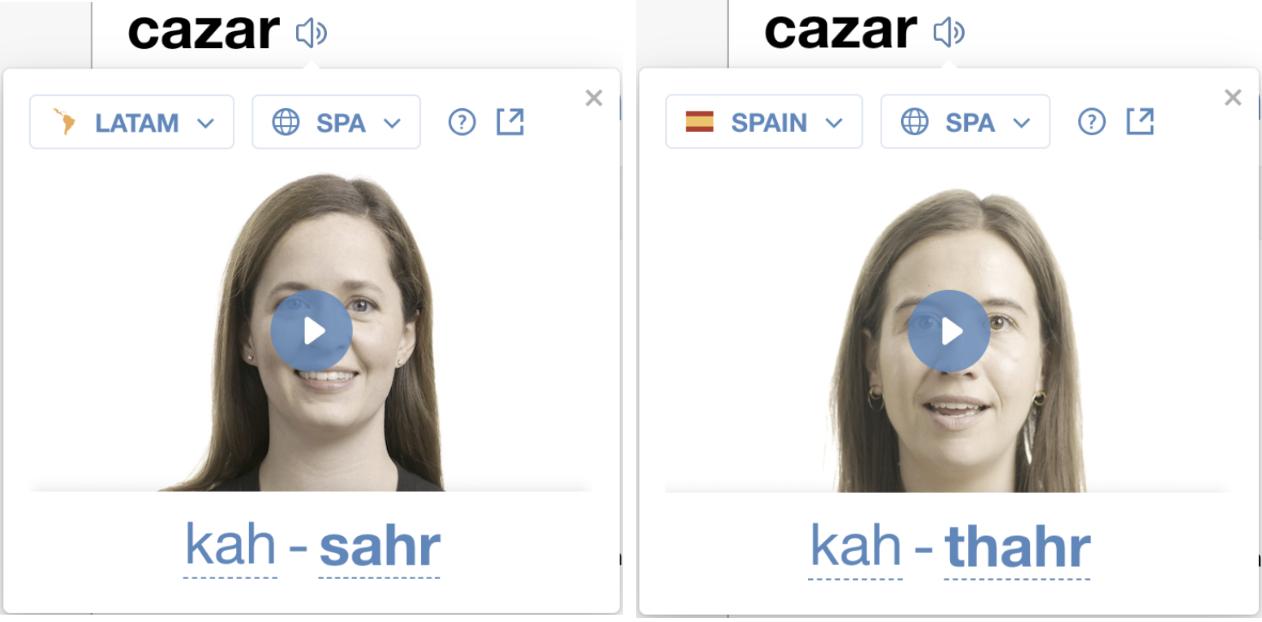 Regional Audio Pronunciations - SpanishDict Support