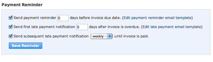 Sending Payment Reminders Working Point Knowledge Base