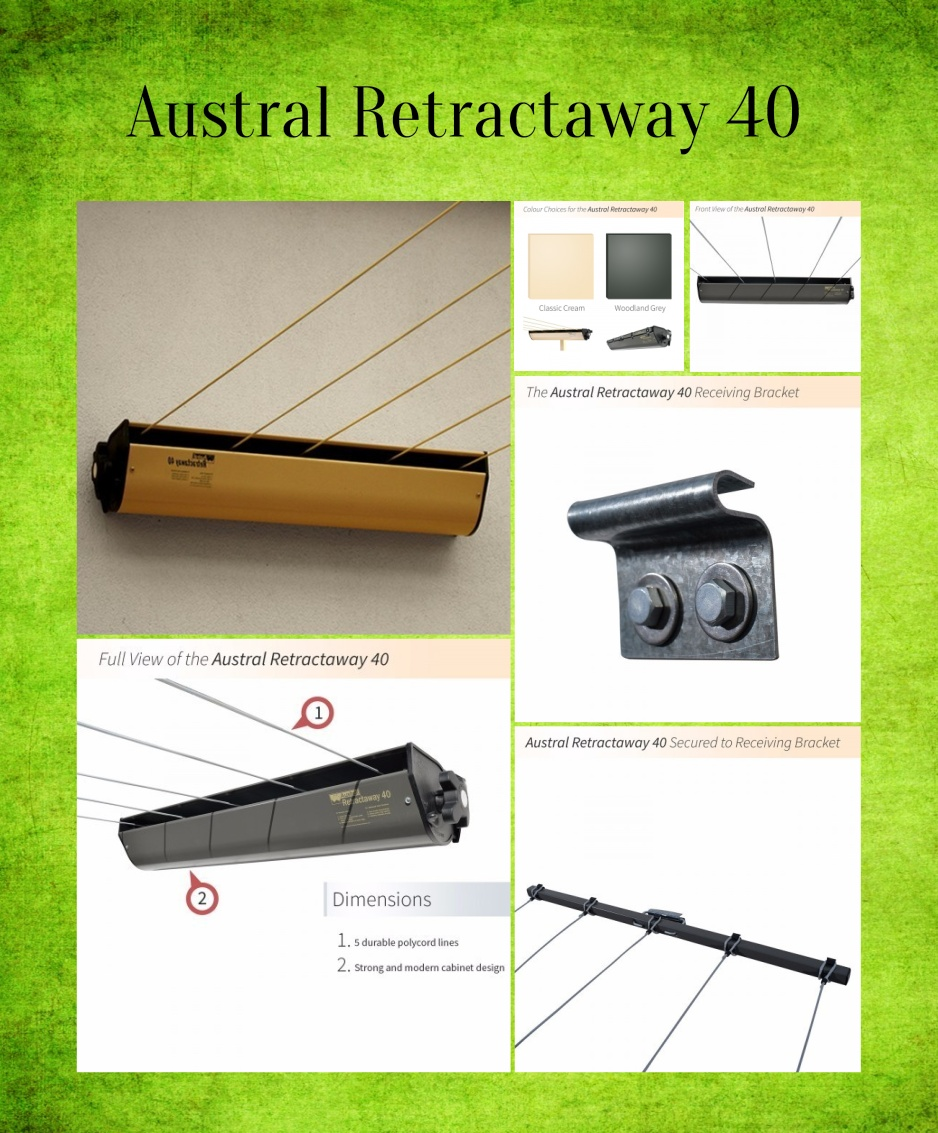 heavy duty retractable clothes line