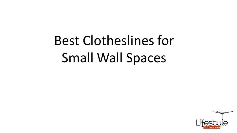 clotheslines for small spaces wall mounted
