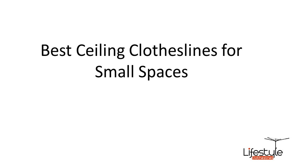 ceiling mounted clotheslines for small spaces