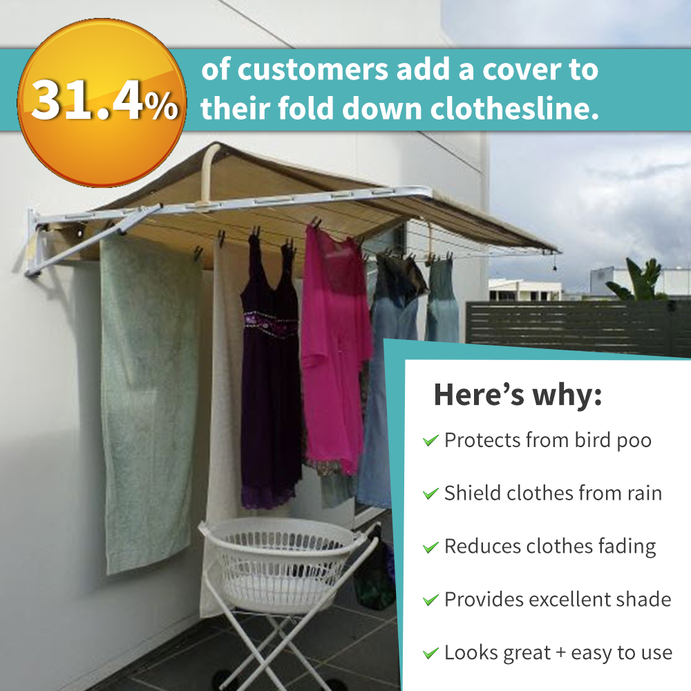 custom made clothesline with waterproof cover