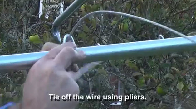 how to install hills hoist galvanised clothesline