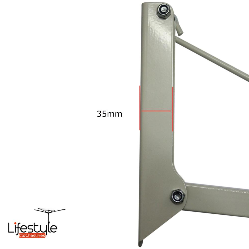 depth mounting bracket austral foldown clothesline