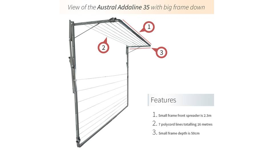 Austral Addaline 35 Foldown Clothesline Product Video