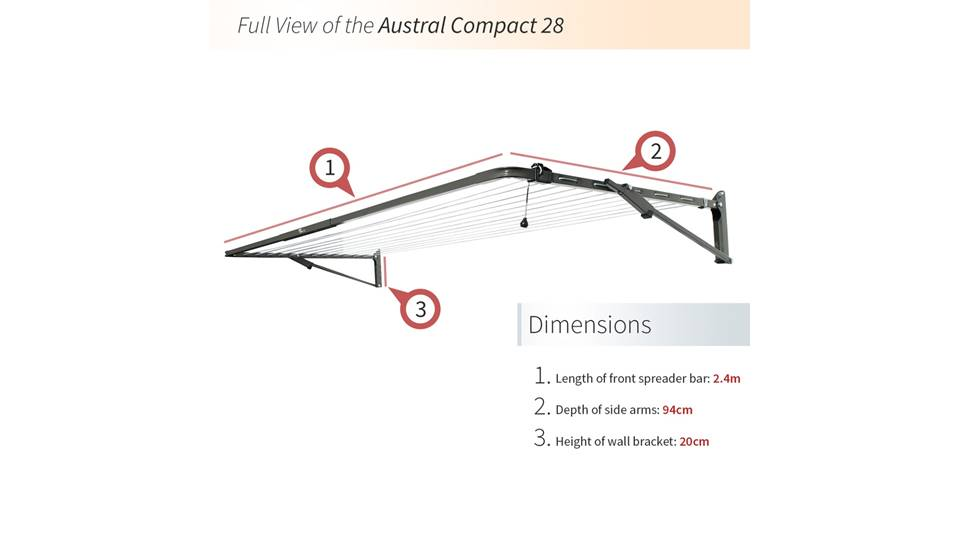 Austral Compact 28 Foldown Clothesline Product Video