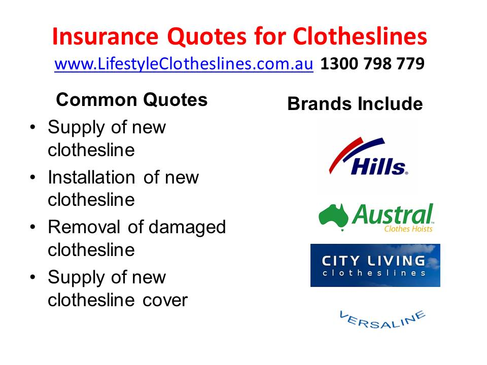 insurance quotes for clothesline