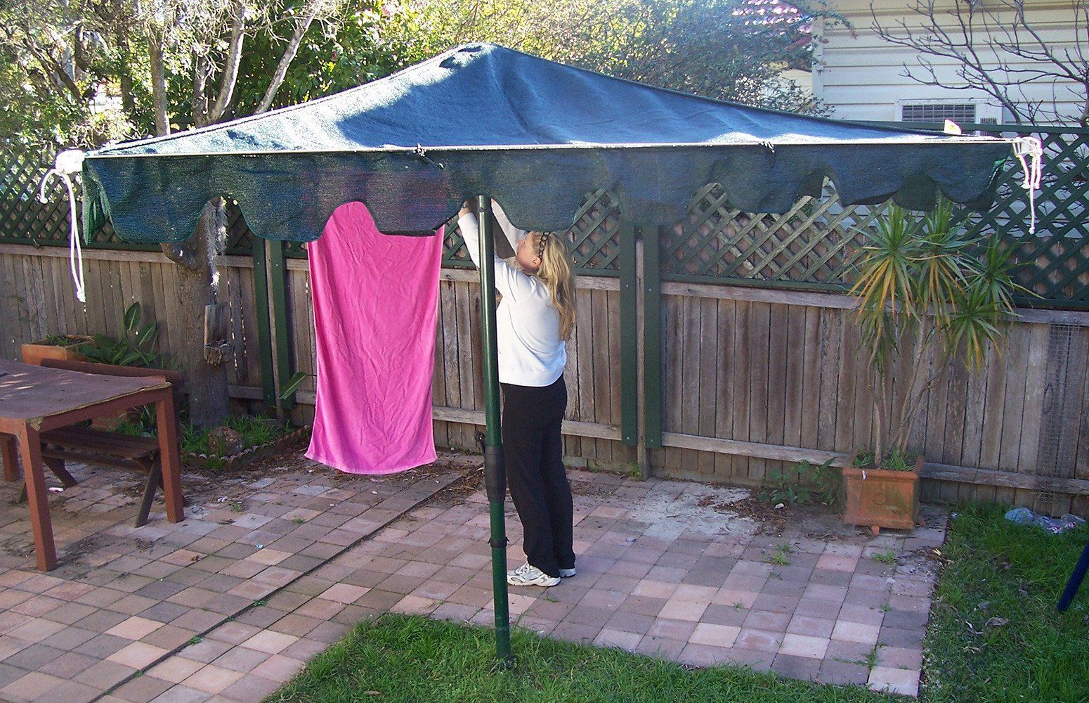 Shade Cloth Rotary Clothesline Cover
