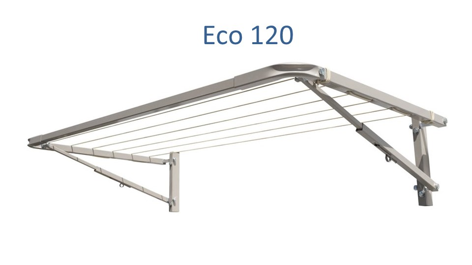 eco 120 clothesline shown in 110cm wide size