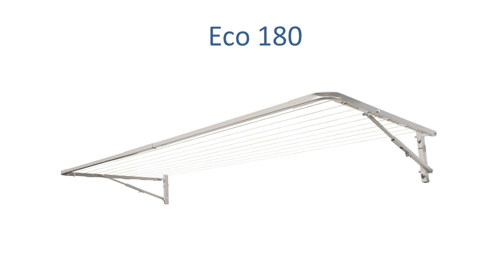 Eco 180 1.6m wide fold down clothesline