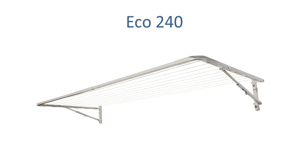 Eco 240 2400mm wide fold down clothesline