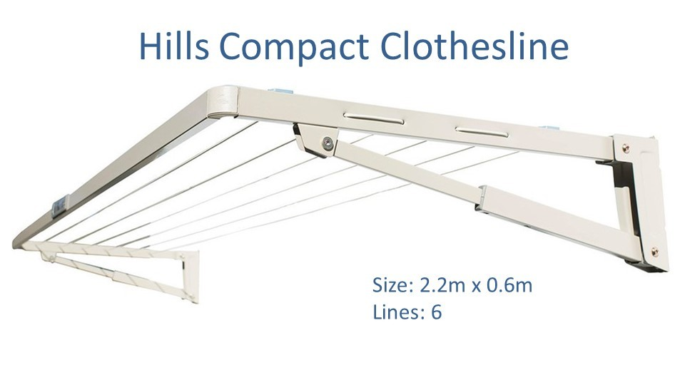Hills compact 2.2m wide clotheslines