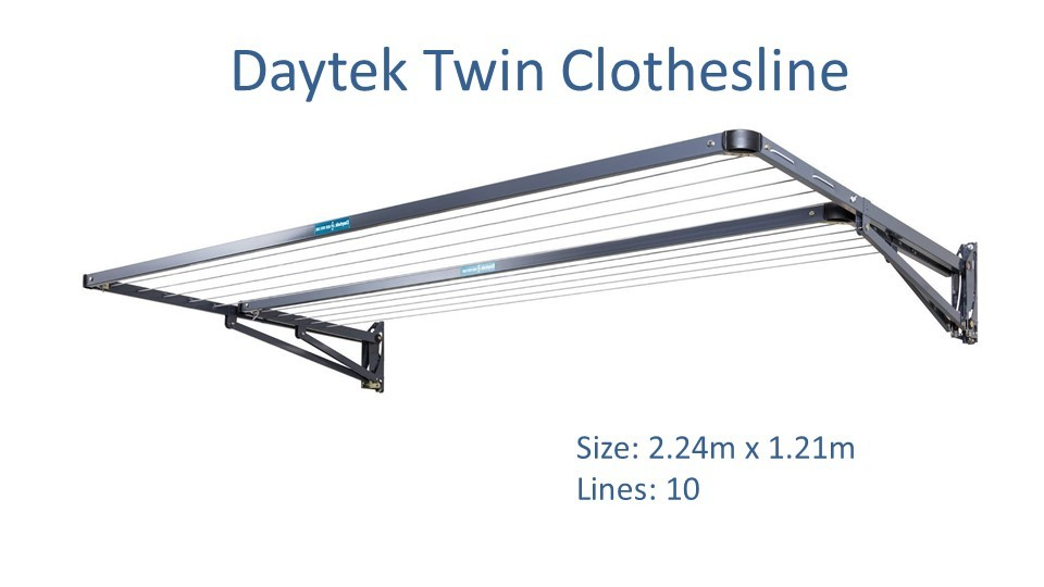 Daytek Twin 2.2m wide fold down clotheslines