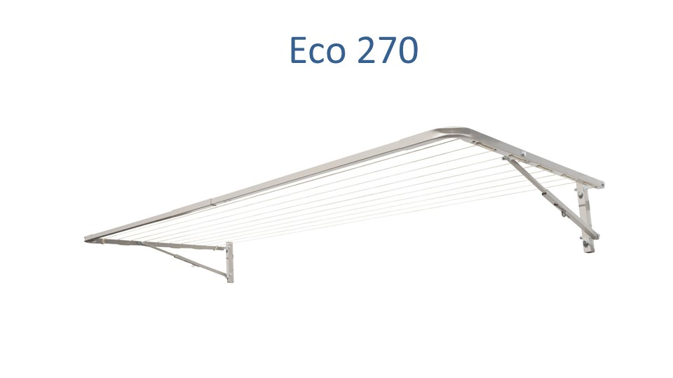 Eco 270 2500mm wide fold down clothesline