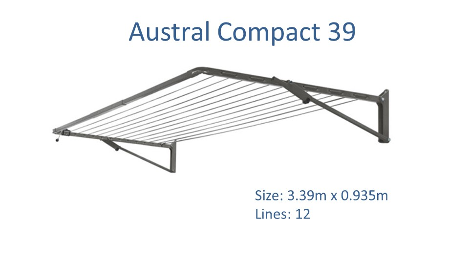 Austral Compact 39 3.2m Wide Clothesline