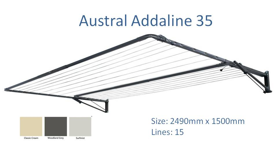 austral addaline 35 2500mm wide clothesline