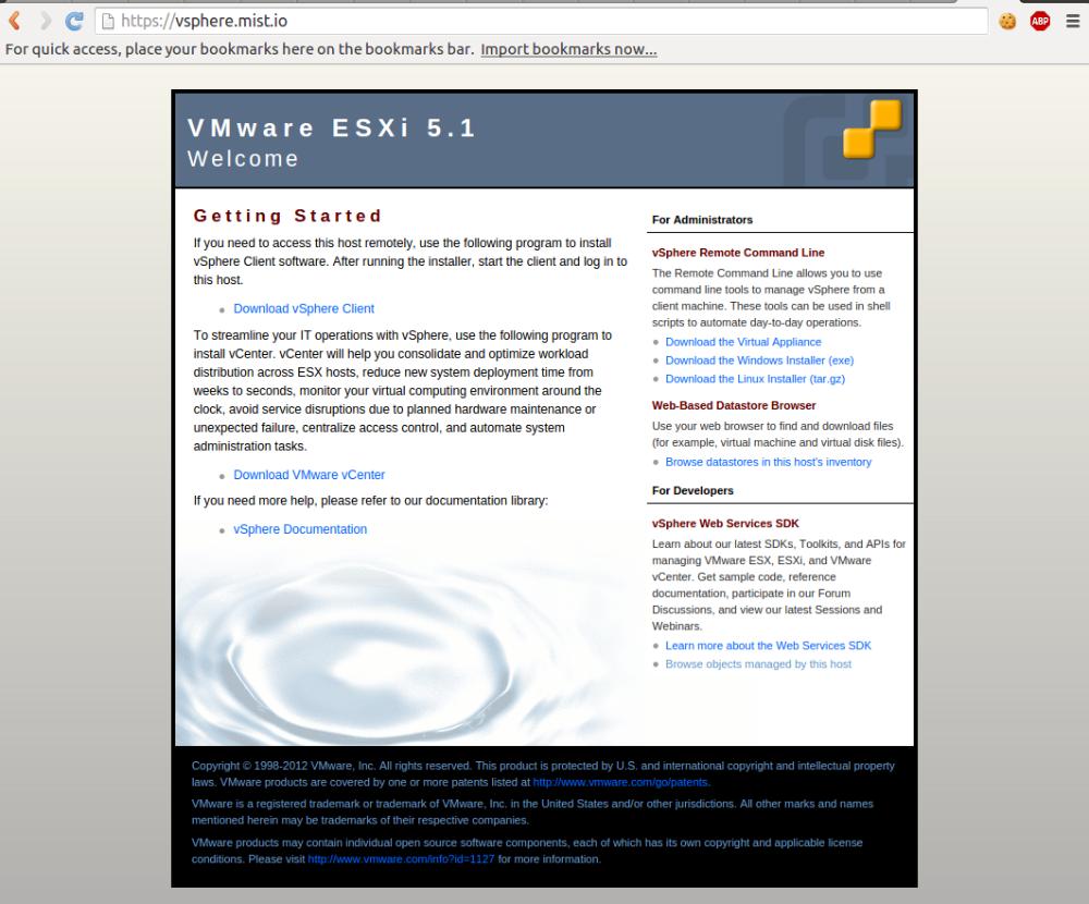 VMware vSphere - Mist io Docs