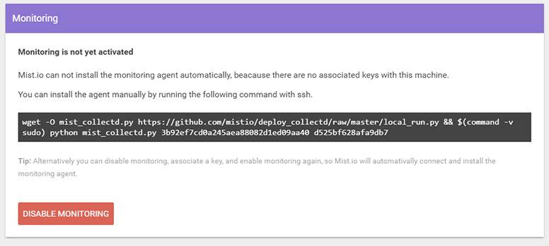 Setting up monitoring on Linux - Mist io Docs