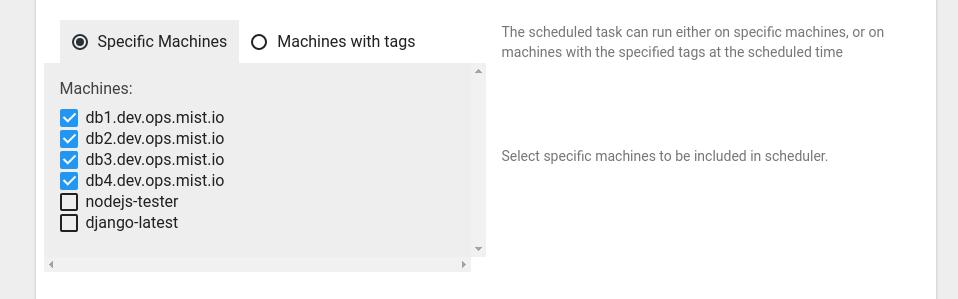 Task Scheduling Example - Mist io Docs