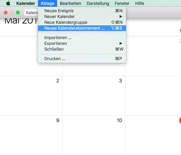 Wie abonniere ich einen Kalender von Stackfield? - Stackfield - Hilfe