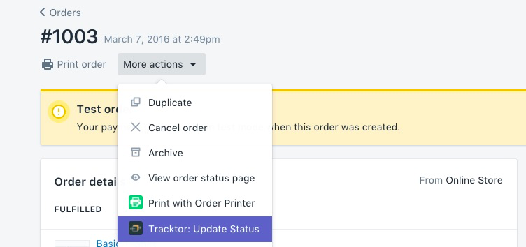 Customize, Update, and Bulk Update Order Status - ShopPad