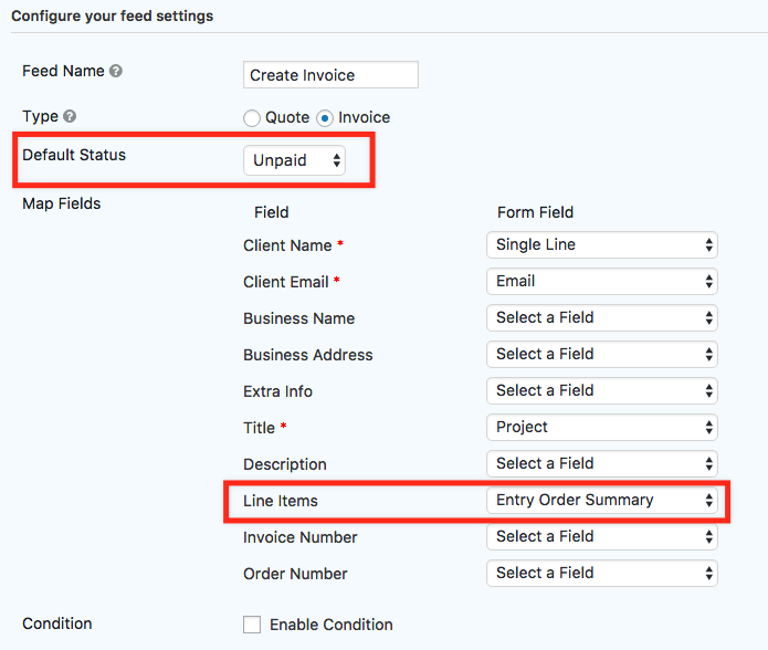sliced invoices integration gravity flow