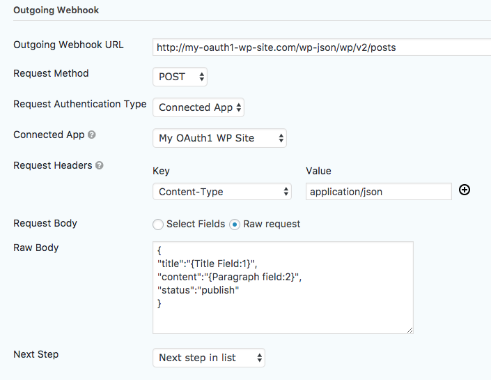The Outgoing Webhook Step - Gravity Flow