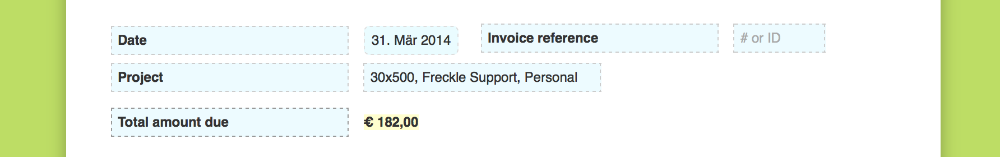 Customizing Invoice Labels Formatting And Custom Html Freckle Help