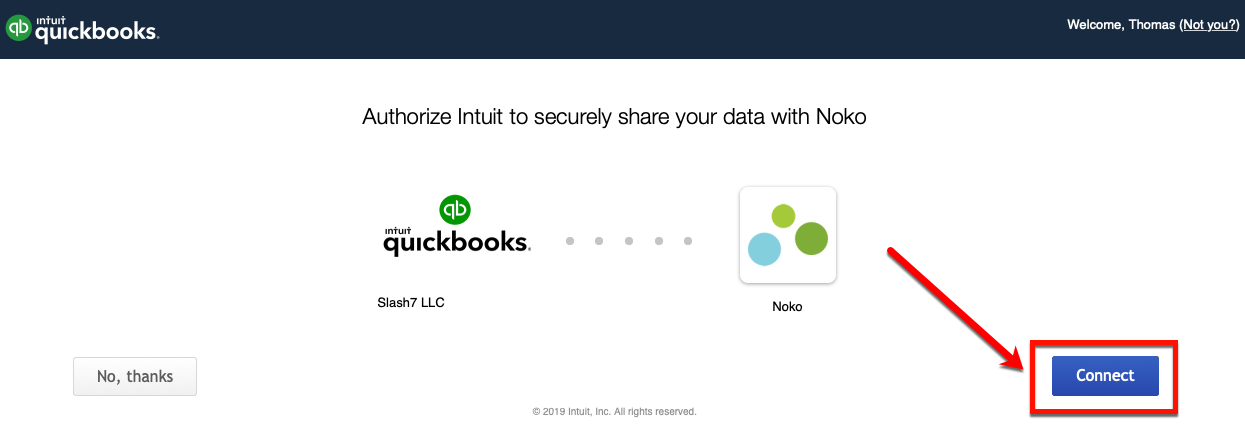 Connecting to QuickBooks Online - Noko Help