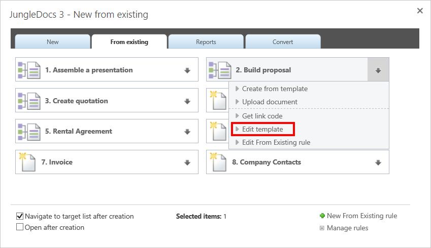 JungleDocs   Modifying document templates - Documentation ...